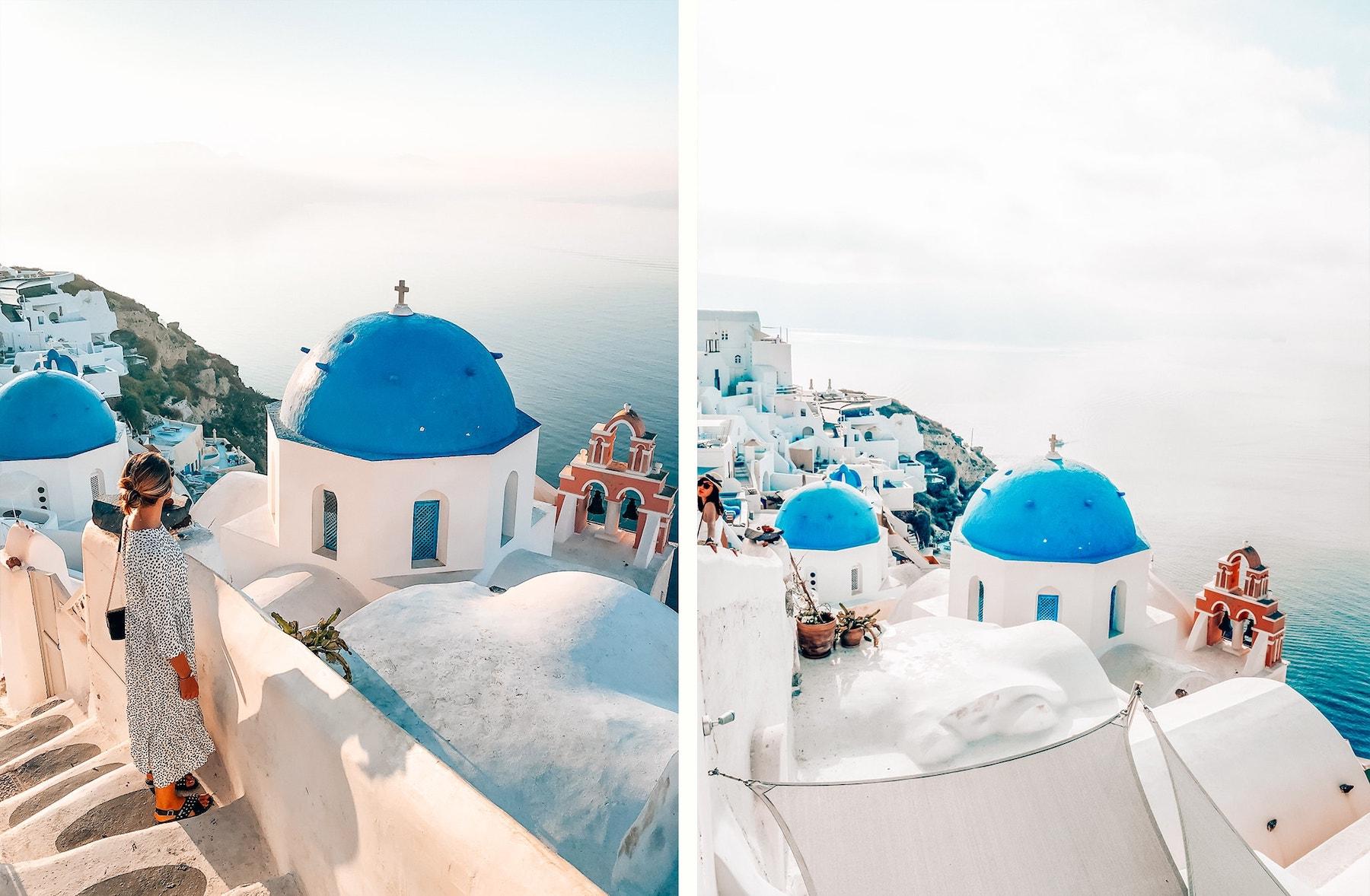 oia santorin dome bleu