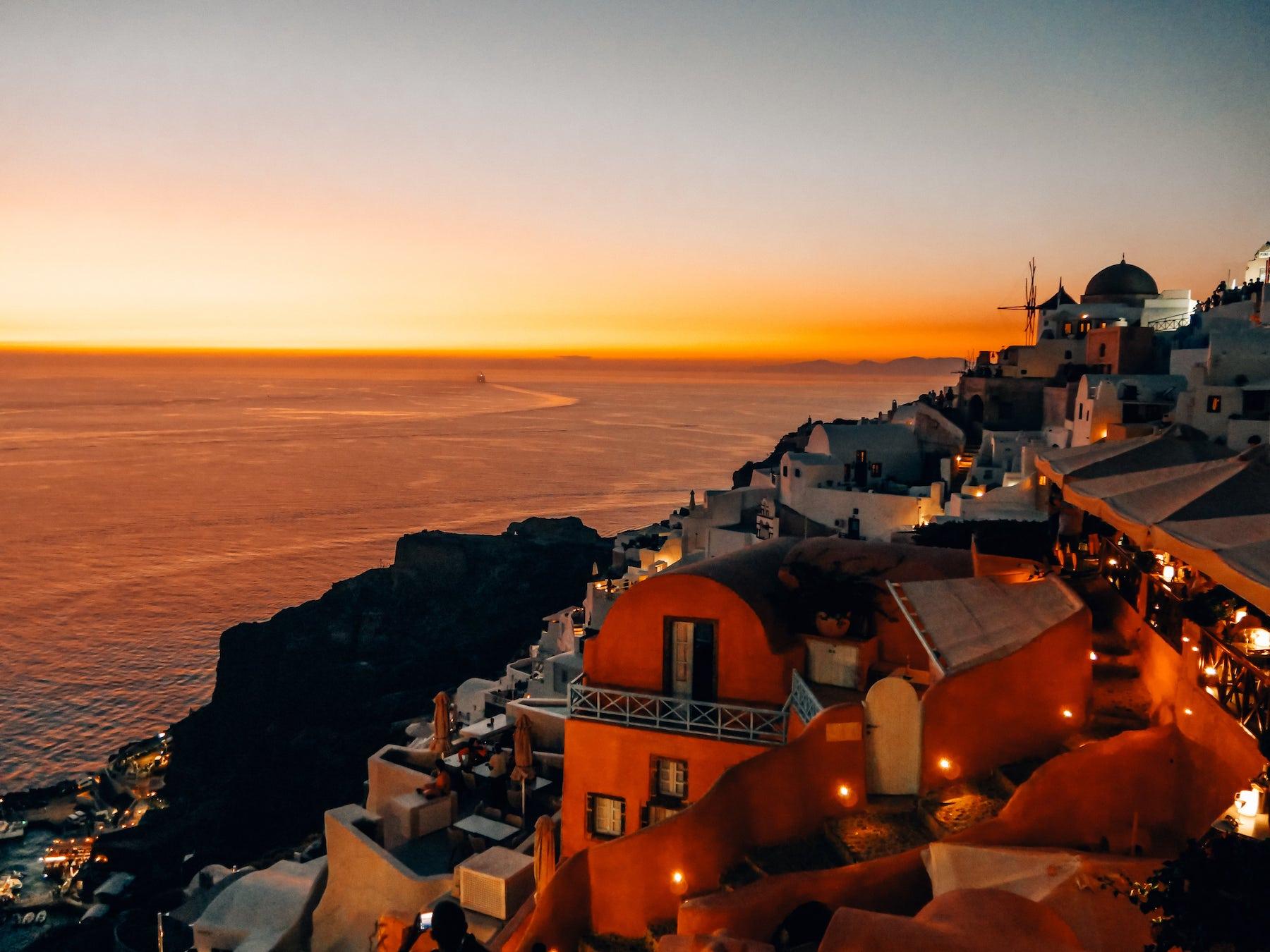 coucher de soleil oia
