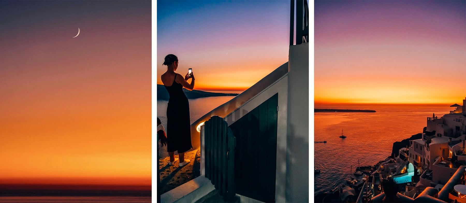 hotel santorin sunset