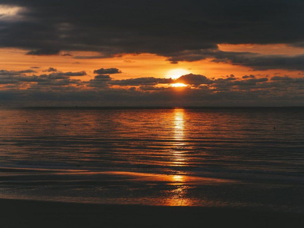 plage le touquet coucher de soleil
